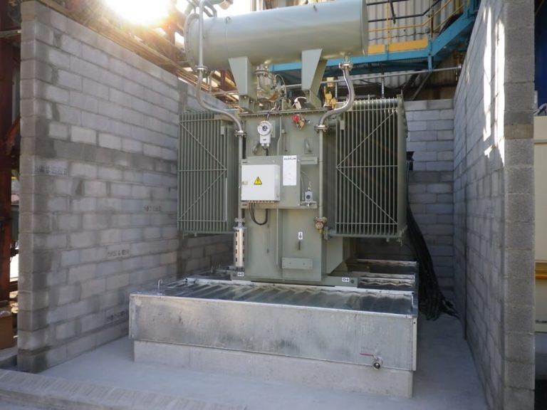 BAF - Cubetos de retención anti-fuego para transformadores eléctricos