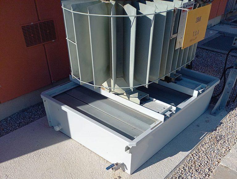 BAF: Cubetos de retención antifuego para transformadores eléctricos